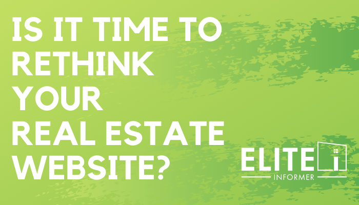Agent Infographic - Is it Time to Rethink your Real Estate Website?