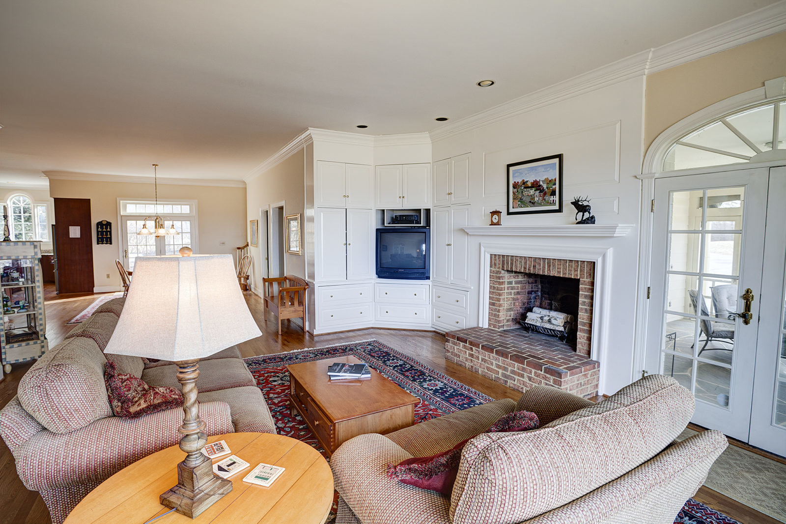Family Room With Views of the BLue Ridge Mountains