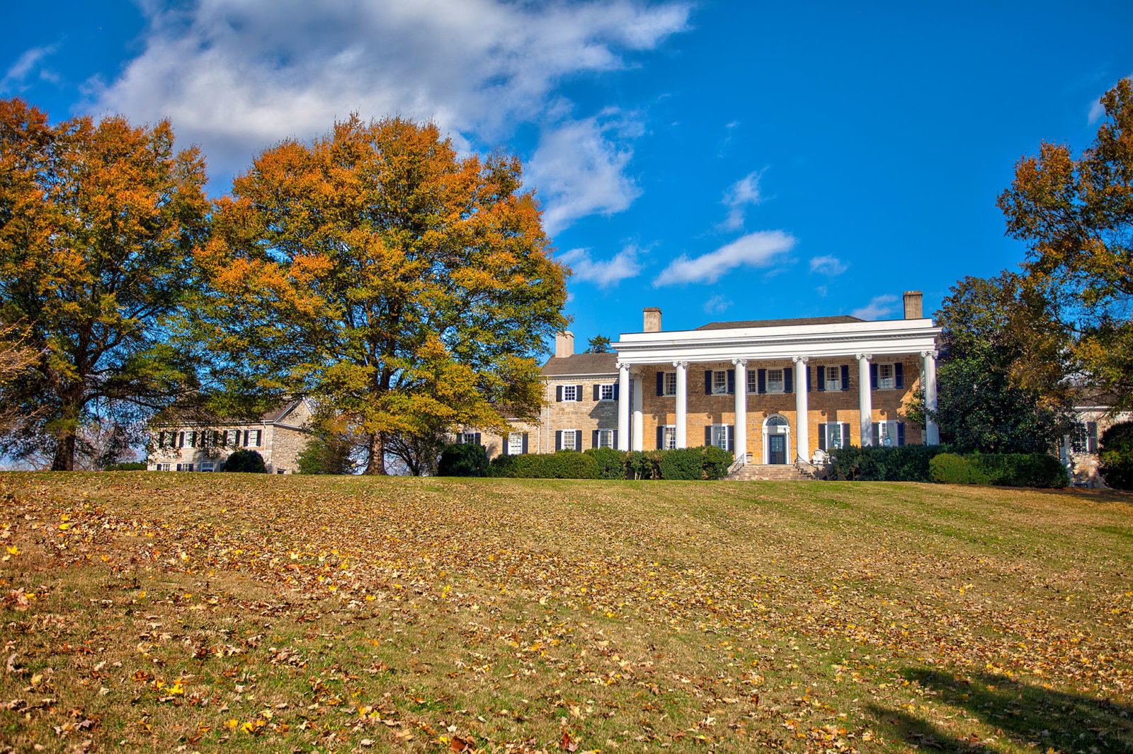 The manor home at Carter Hall.