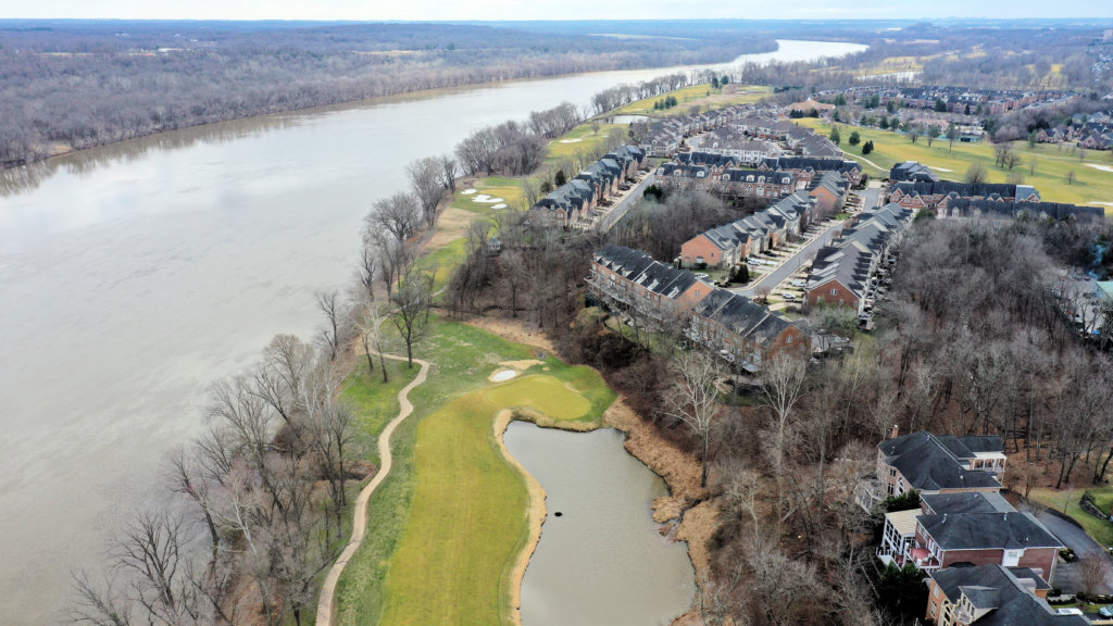 The Signature 15th Hole at River Creek Club Along the Banks of the Potomac River