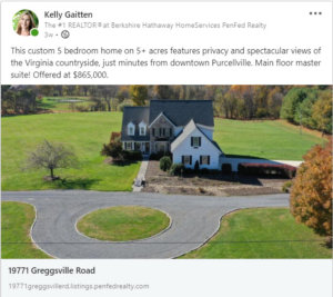 Kelly Gaitten Hamilton Va Real Estate Instagram Post