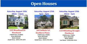 august 25 26 open houses