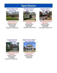 open houses sept 12