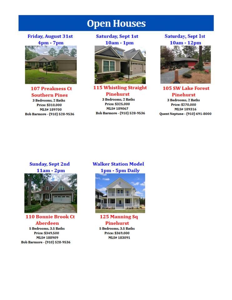 open houses sept 12