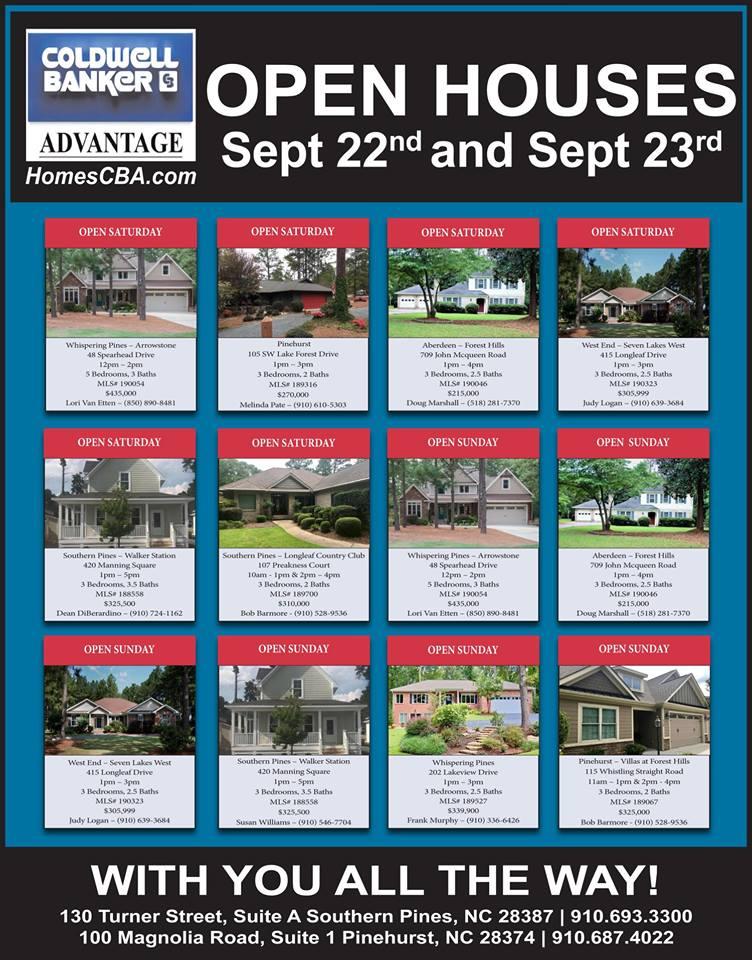 open houses september 22 23