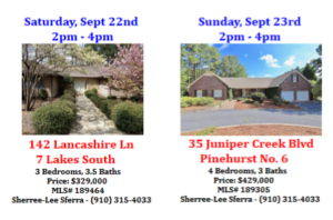 open houses september 22 23