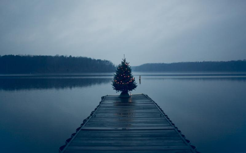 Lake Christmas Picture