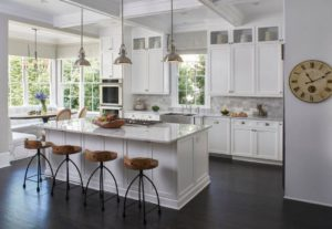 clean modern white kitchen