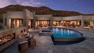 modern home in desert