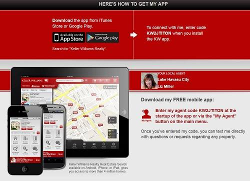 Map-based Search at the touch of your finger - Download my Keller Williams Realty app now!