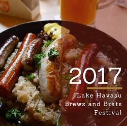 Enjoy great music, food and drinks at the 2017 Lake Havasu Brews and Brats Festival on March 4th. Proceeds benefit several local charitable organizations.