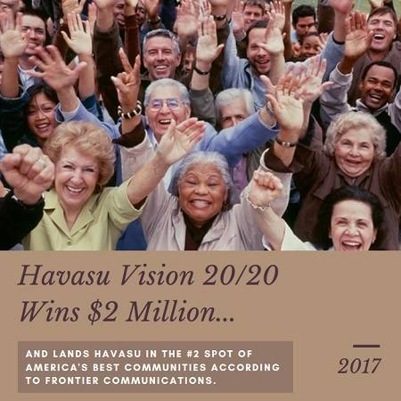Havasu Vision 20/20 wins $2 million for placing second in the America's Best Communities contest. This money goes towards local programs and development.