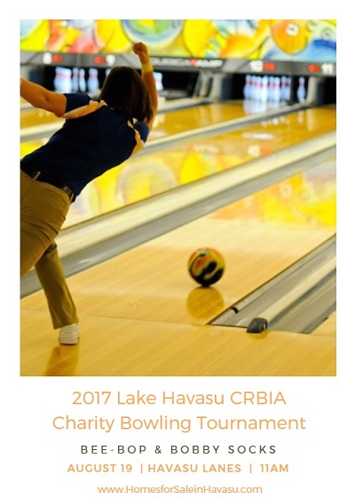Sign up for the 2017 Lake Havasu CRBIA Charity Bowling Tournament before August 17th. Dress in your '50s best and get ready to have some fun!