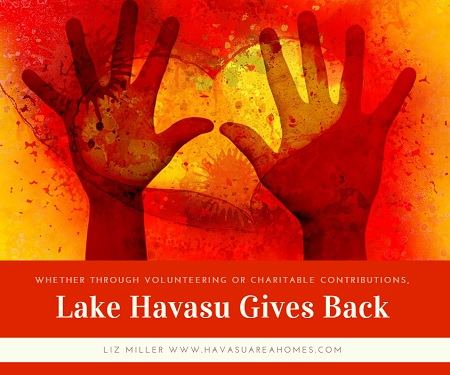 Lake Havasu gives back. Help locally by volunteering for the SARA trailhead project. Help globally by donating $$ for Hurricane Harvey relief.