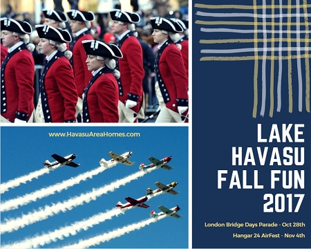 Don't miss any of the Lake Havasu Fall Fun 2017 coming up in the next two weeks. We have a parade celebrating the community. And then we have planes!