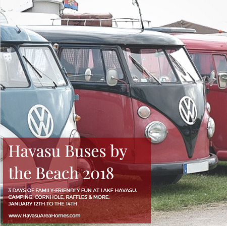Looking for a throwback to a groovier time? Bring your vintage VW Bus to the Havasu Buses by the Bridge 2018 event. Camp out, veg out, and relax, man. It's fun that the entire family can enjoy.