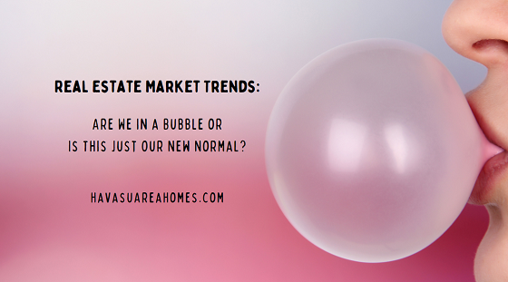 The current Lake Havasu real estate market trends of rising prices and low inventory have some buyers worrying about a housing bubble bursting again. Are we really in a