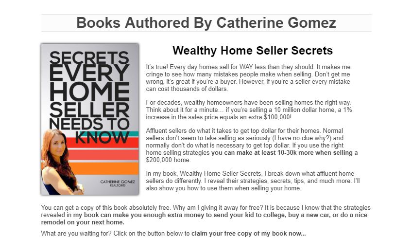 Catherine Gomez Author and Realtor Based in HOMESTEAD Fl