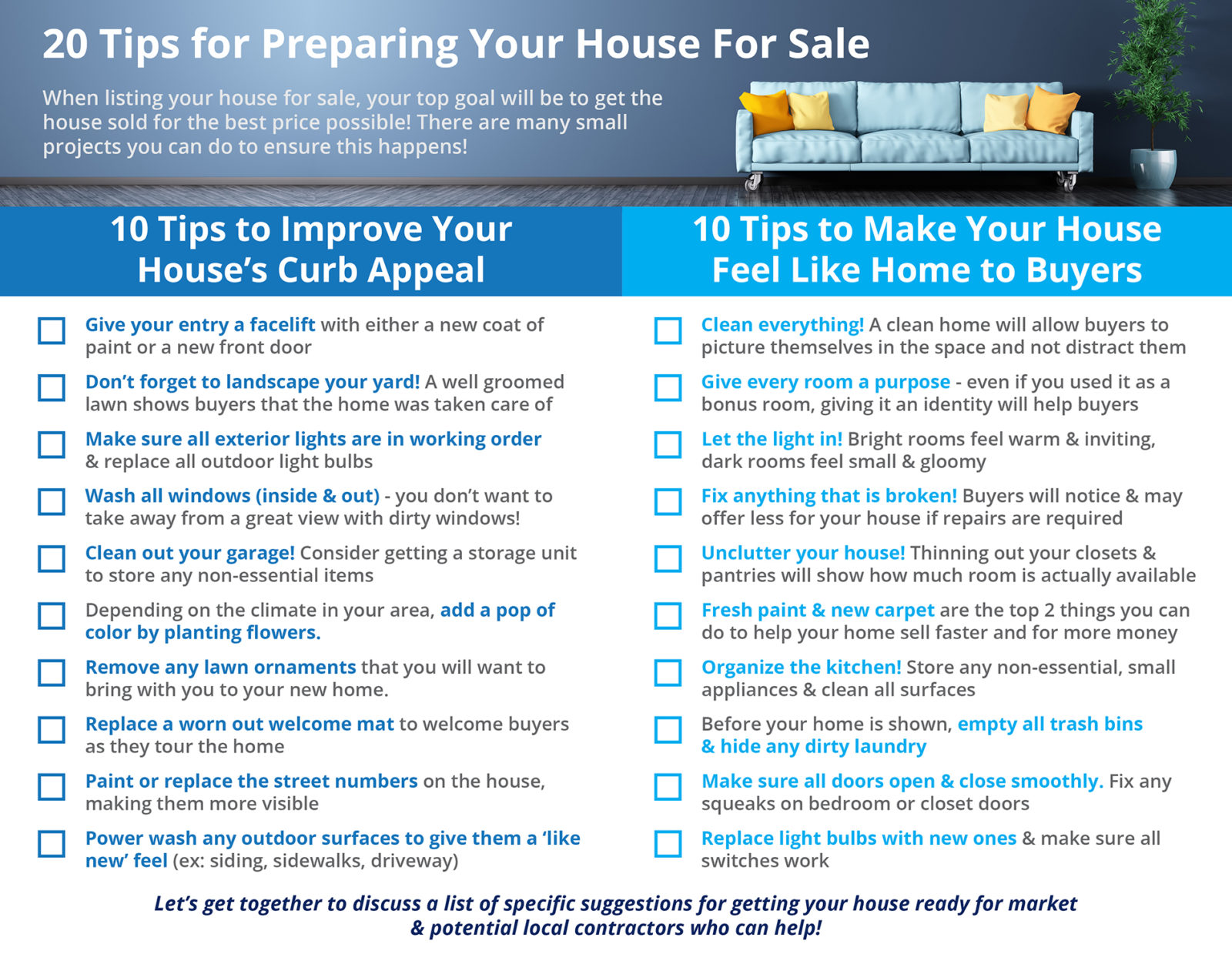 20 Tips for Preparing Your House for Sale in 2019