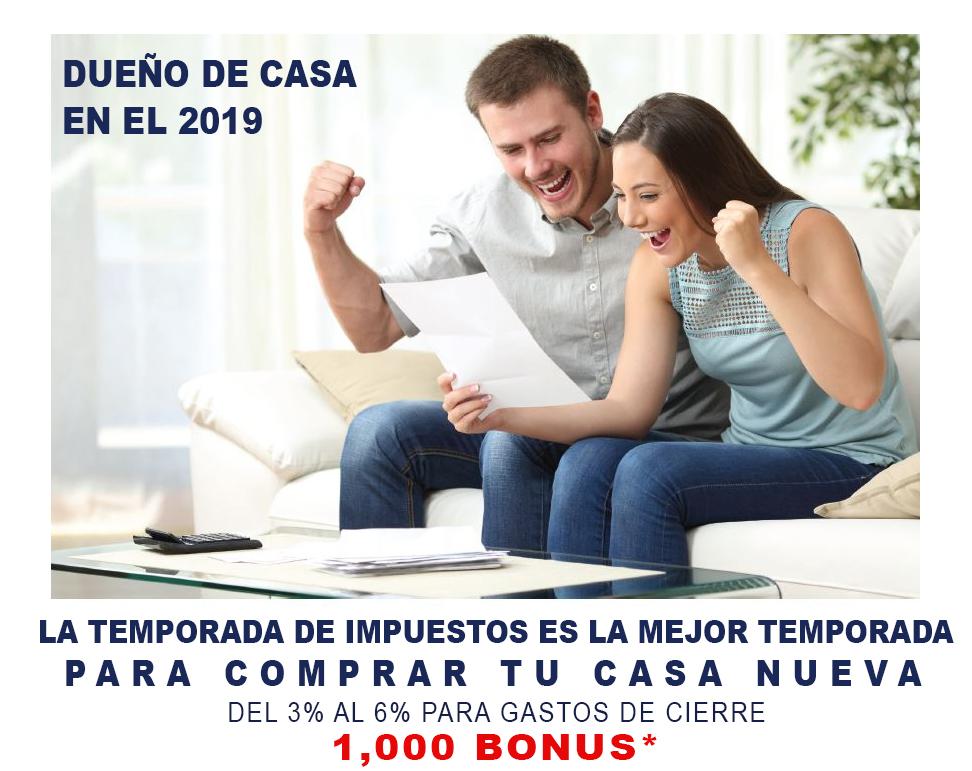 Usa tus Taxes para Comprar Casa Nueva